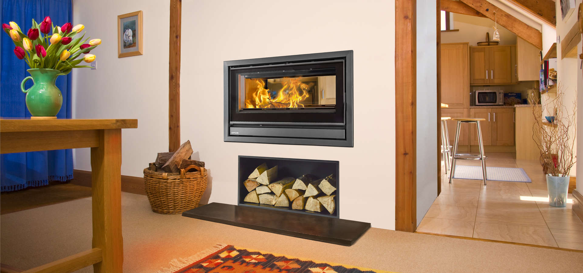 Opus Tempo 100i DS double sided stove