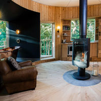 Invicta stove in a stunning treehouse