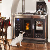 Klover Smart 120 Wood Pellet Stove with hob covers