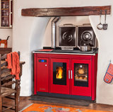 Klover Traditional Smart 120 wood pellet cooker in red