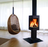 Nordpeis Quadro 1 Stove with chair