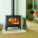 Stovax Stockton 11 two door flat top stove with coir flooring