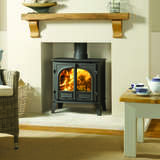 Stovax Stockton 8 two door flat top stove in lighter setting