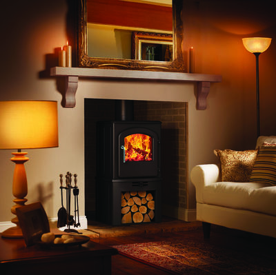 Broseley Serrano 5 SE stove with log store