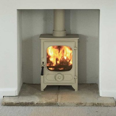 Country 4 woodburning stove in Almond