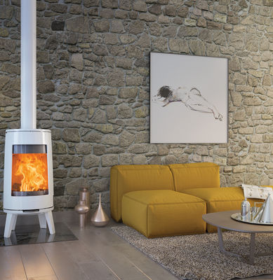 Dovre Bold 300 wood burning stove Pure White Enamel
