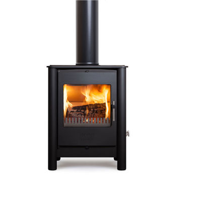 Esse 525 SE multifuel stove with black pillars
