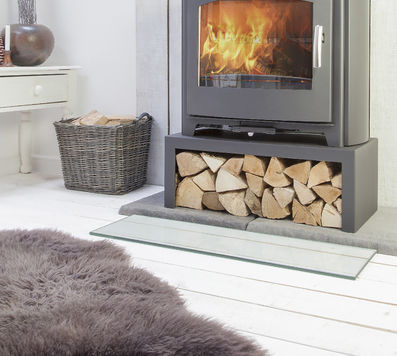 Mendip Churchill 10 Mk4 Convection stove with logstore