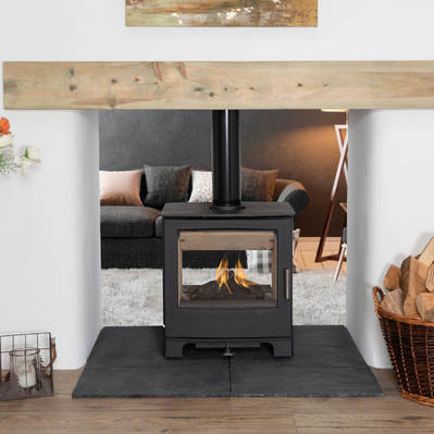 Mendip Woodland Double sided catalyst  stove