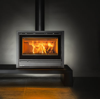 Opus Tempo 70 stove on a bench
