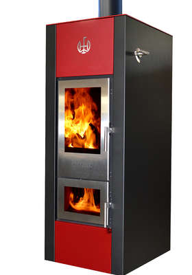 Walltherm Vajolet stove in red