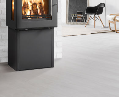 Westfire 23 Woodburning Stove with Side Windows and Pedestal