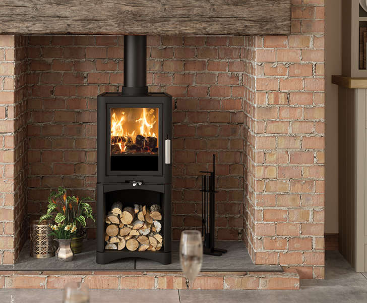 Broseley eVolution 5 deluxe stove with log store