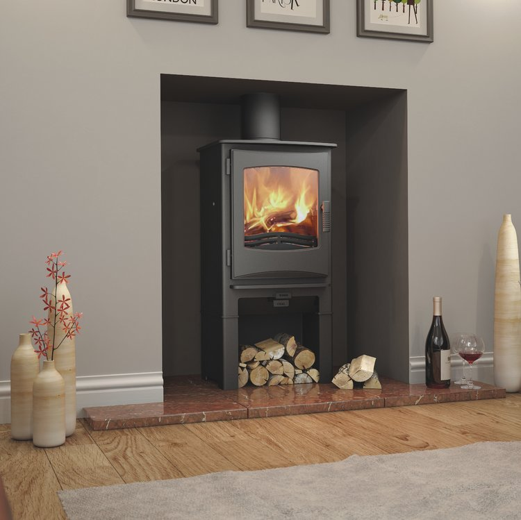 Broseley Ignite 5 multifuel stove with log store