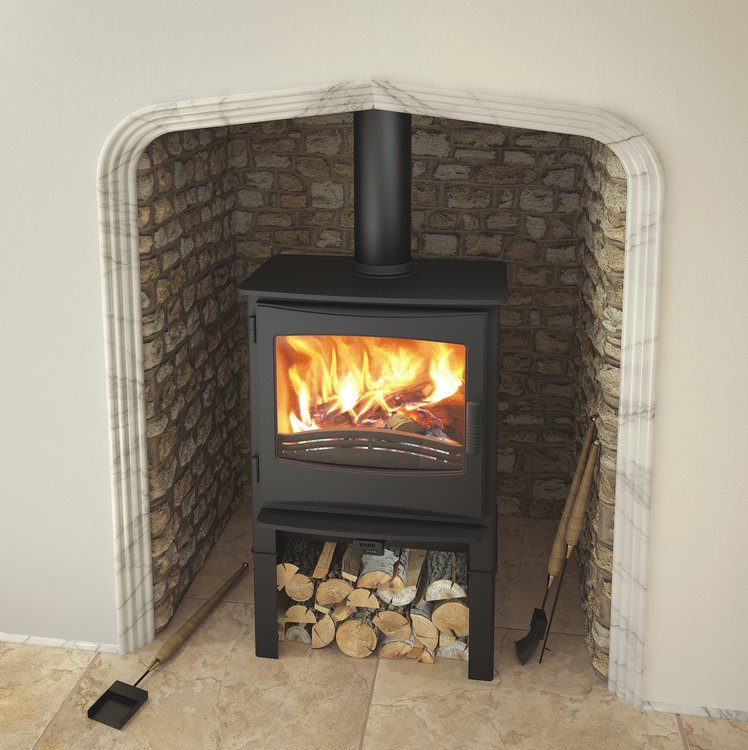 Broseley Ignite 7 multifuel stove with log store