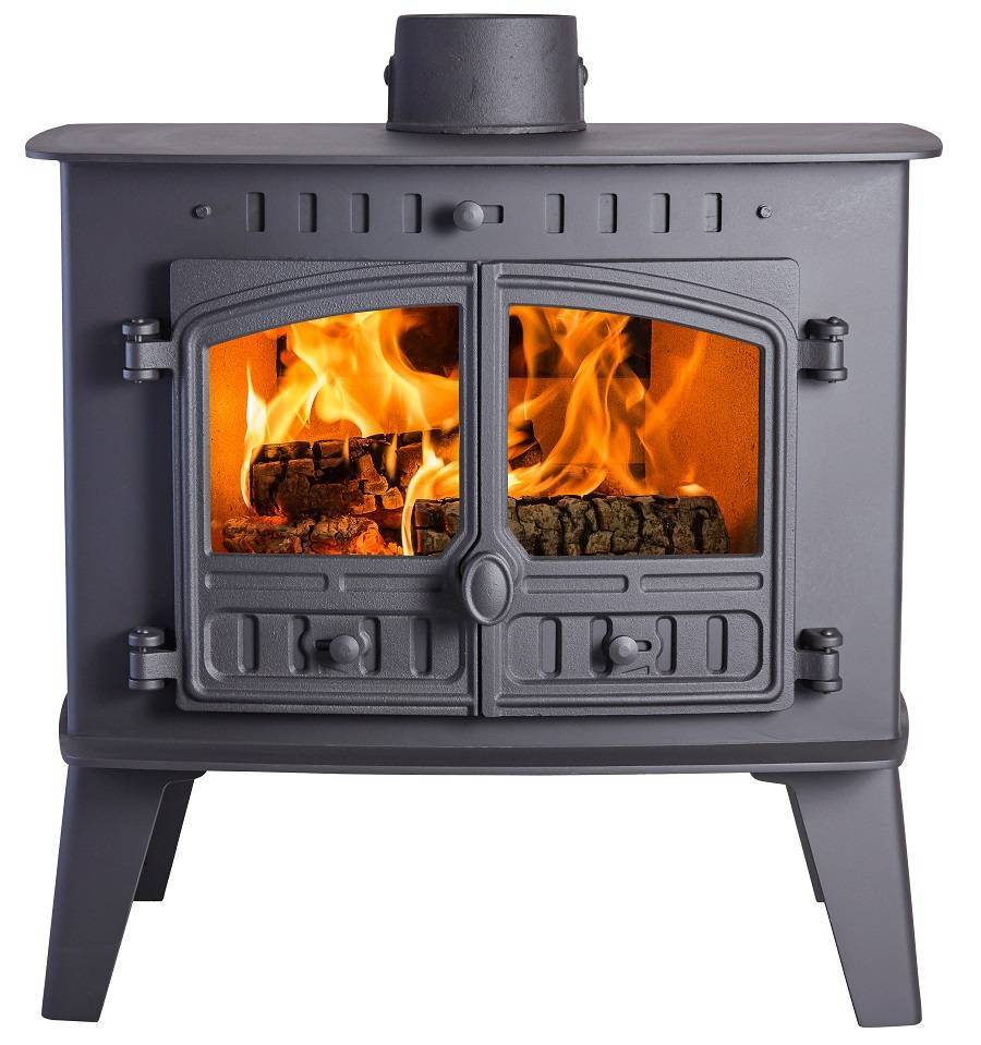 Hunter Inglenook high output flat top traditional multifuel stove