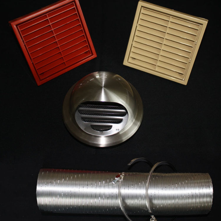 Stove external air ventilation kits