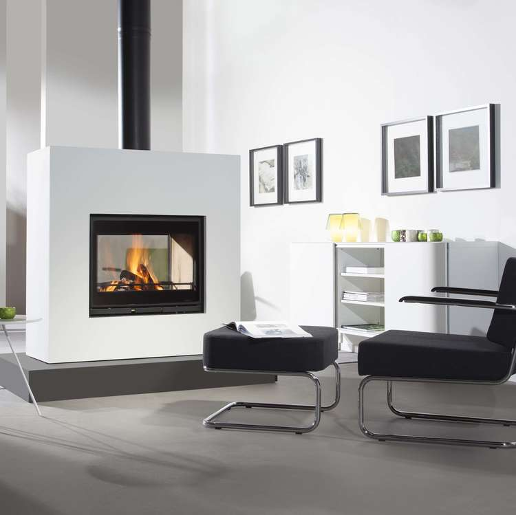 Click to read more about the Wanders Square Tunnel double sided insert stove