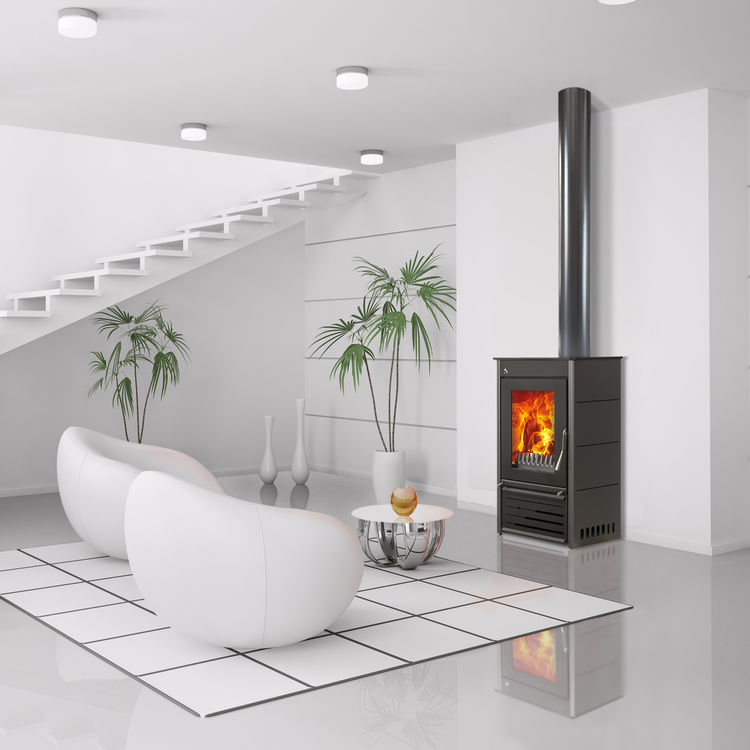 Woodfire CX8 contemporary boiler stove